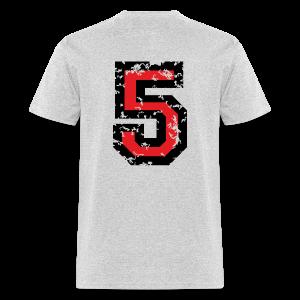Number Five T-Shirt No.5 (Men Grey) Back - Men's T-Shirt