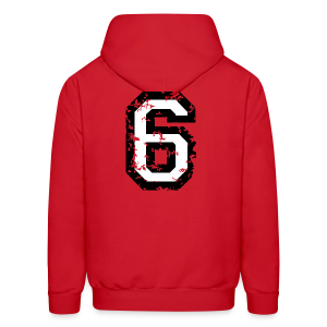 Number Six T-Shirt No.6 (Men Red) Back - Men's Hoodie