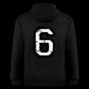 Number Six T-Shirt No.6 (Men Red) Back - Men's Zip Hoodie