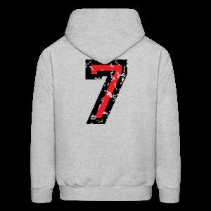Number Seven T-Shirt No.7 (Men Grey) Back - Men's Hoodie