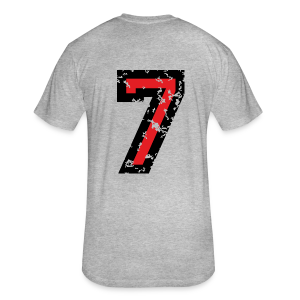Number Seven T-Shirt No.7 (Men Grey) Back - Fitted Cotton/Poly T-Shirt by Next Level