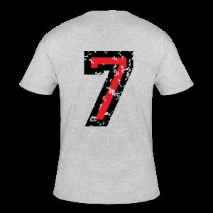 Number Seven T-Shirt No.7 (Men Grey) Back - Men's 50/50 T-Shirt
