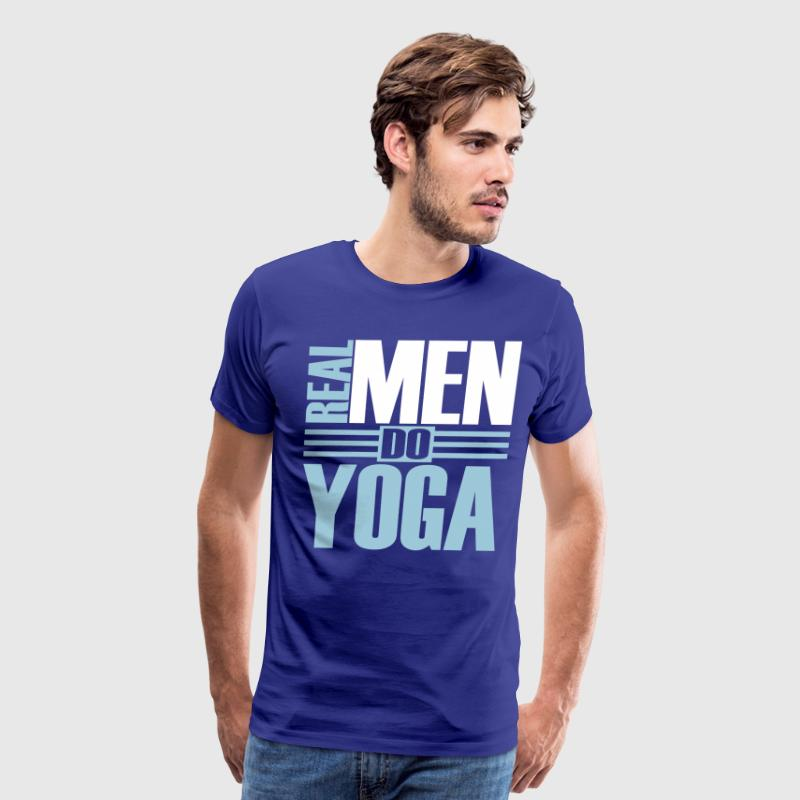 Real men do Yoga T-Shirts - Men's Premium T-Shirt