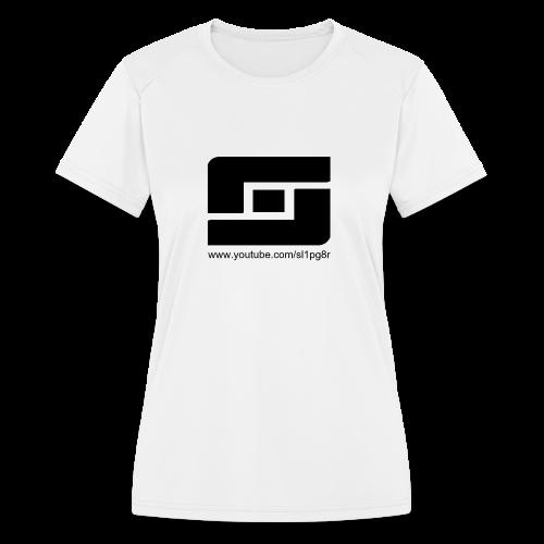 Kid's Sl1pg8r Logo Black T-Shirt - Women's Moisture Wicking Performance T-Shirt