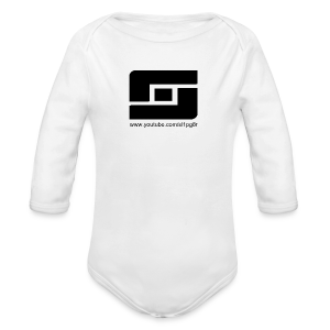 Kid's Sl1pg8r Logo Black T-Shirt - Long Sleeve Baby Bodysuit