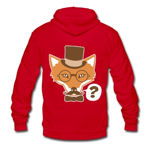 Fox Says What - Unisex Fleece Zip Hoodie by American Apparel