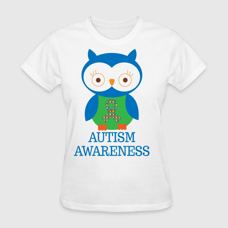 Autism Awareness Owl Women's T-Shirts - Women's T-Shirt