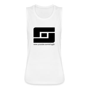 Women's Sl1pg8r Logo Black - Women's Flowy Muscle Tank by Bella