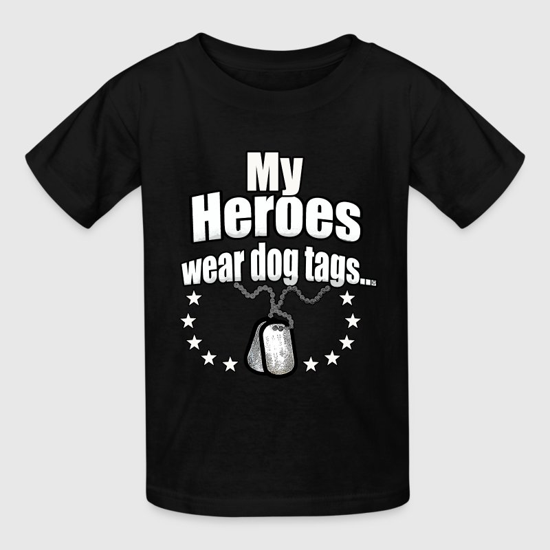 My Heroes wear dog tags - Kids' T-Shirt