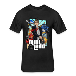 Mini Ladd GTA Mens - Fitted Cotton/Poly T-Shirt by Next Level