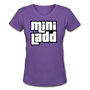 Mini Ladd GTA Logo Womans - Women's V-Neck T-Shirt
