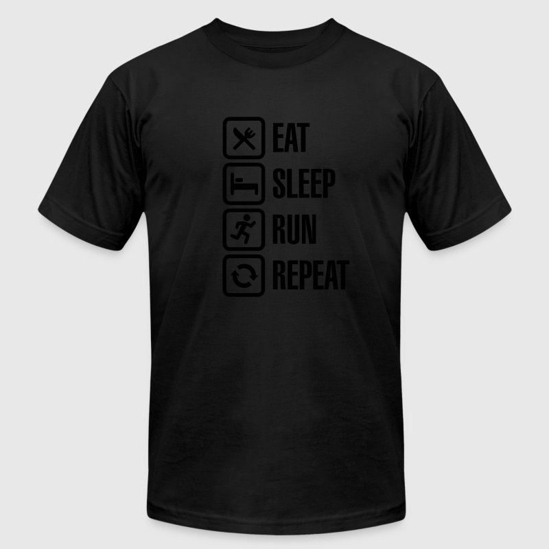 Eat sleep run repeat T-Shirts - Men's T-Shirt by American Apparel
