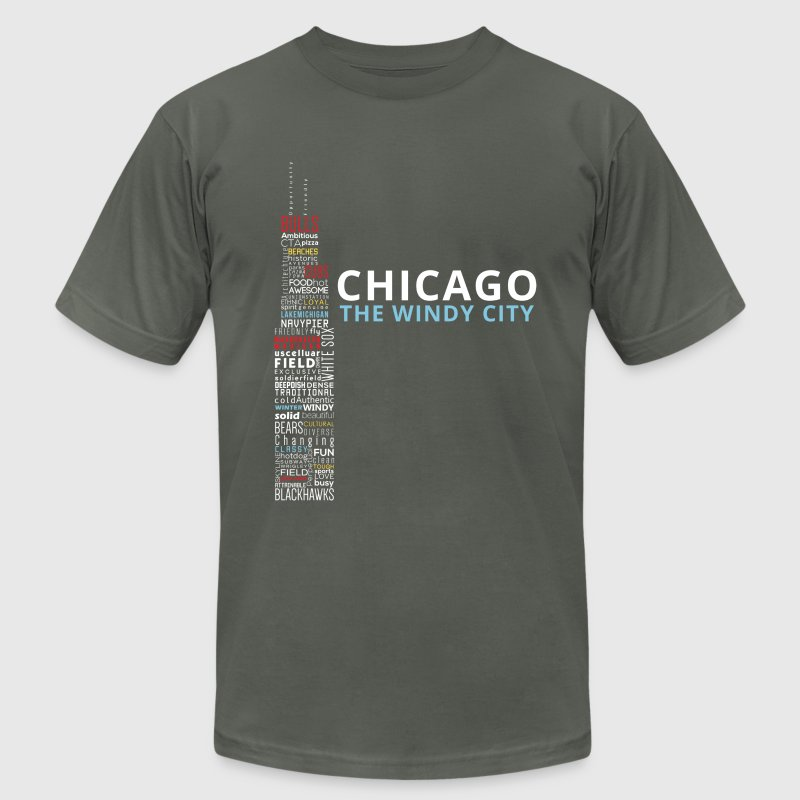 The Windy City - Men's T-Shirt by American Apparel
