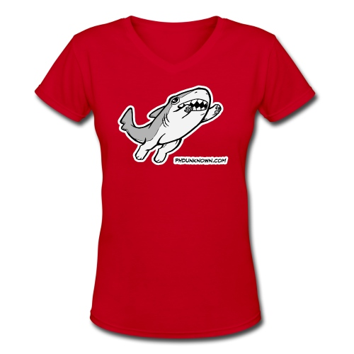Vonnie Leaping - Women's V-Neck T-Shirt