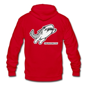 Vonnie Leaping - Unisex Fleece Zip Hoodie by American Apparel
