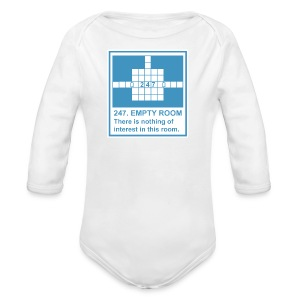 247. EMPTY ROOM - Long Sleeve Baby Bodysuit