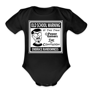 Old School Warning - Short Sleeve Baby Bodysuit
