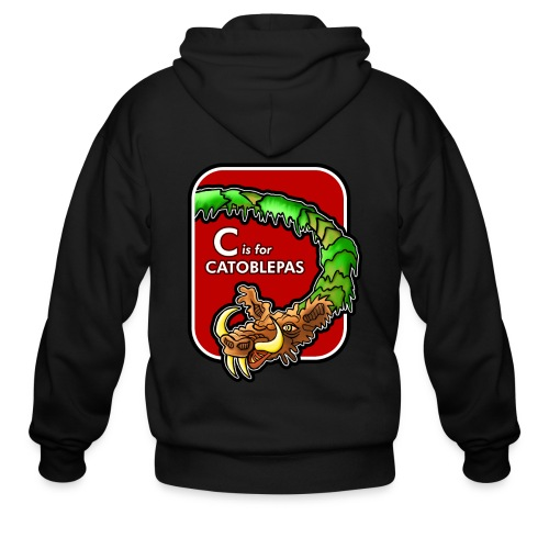 C is for Catoblebas - Men's Zip Hoodie