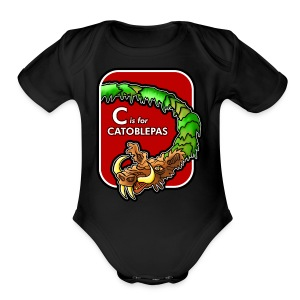 C is for Catoblebas - Short Sleeve Baby Bodysuit
