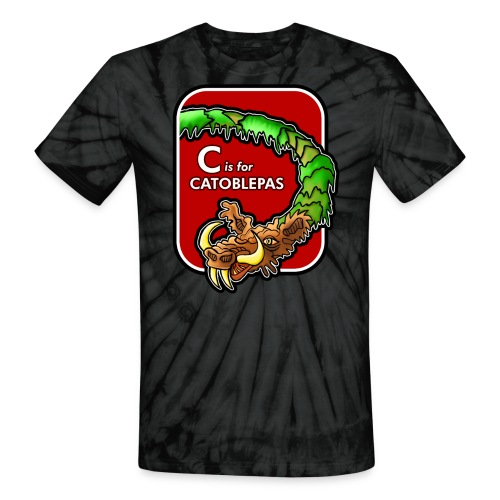C is for Catoblebas - Unisex Tie Dye T-Shirt