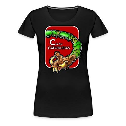C is for Catoblebas - Women's Premium T-Shirt