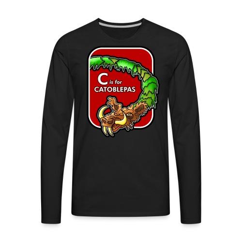 C is for Catoblebas - Men's Premium Long Sleeve T-Shirt