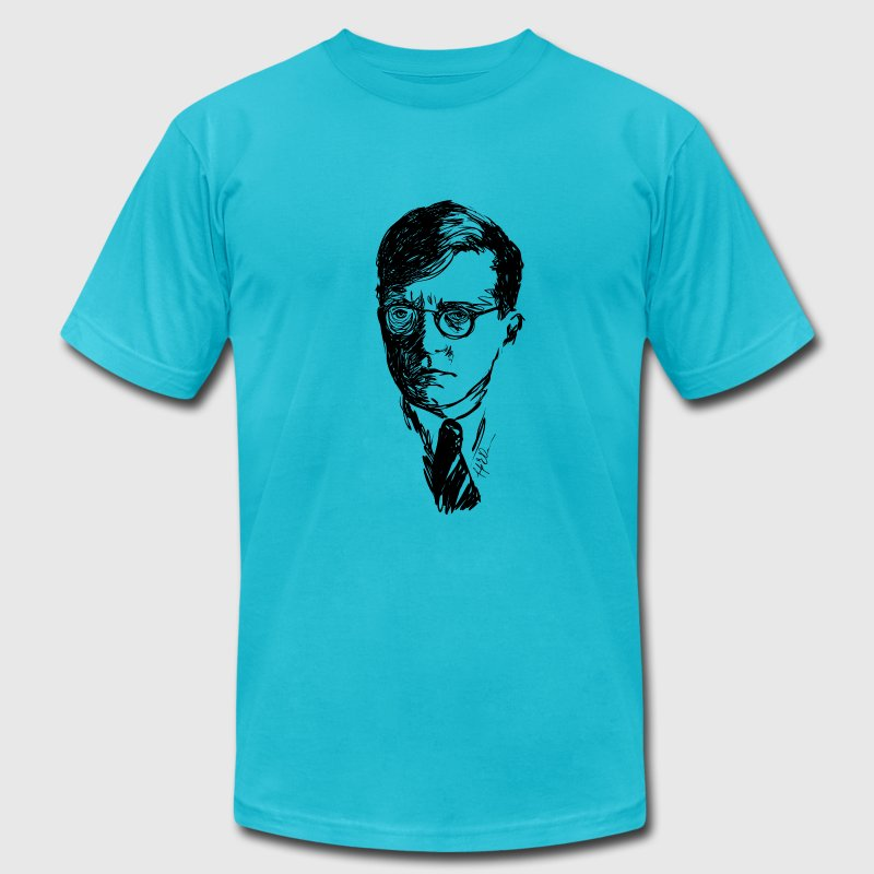 Dmitri Shostakovich drawing - American Apparel - Men's T-Shirt by American Apparel