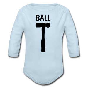 Ball Shirt - Long Sleeve Baby Bodysuit
