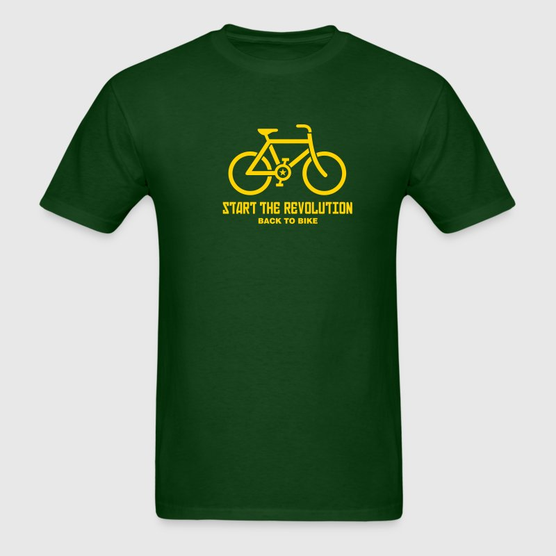 Forest green ::BACK TO BIKE:: T-Shirts (Short sleeve) - Men's T-Shirt