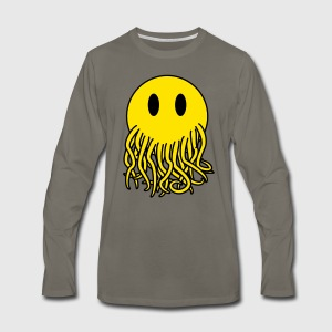Smiley Cthulhu - Men's Premium Long Sleeve T-Shirt