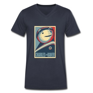 Charles Obama Men's Heavyweight - Men's V-Neck T-Shirt by Canvas
