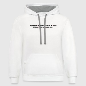 White Foxtrott Off (for Light) T-Shirts - Contrast Hoodie