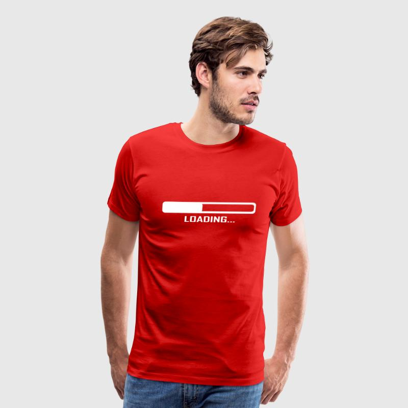Red Loading Bar - Computer - Geek T-Shirts - Men's Premium T-Shirt