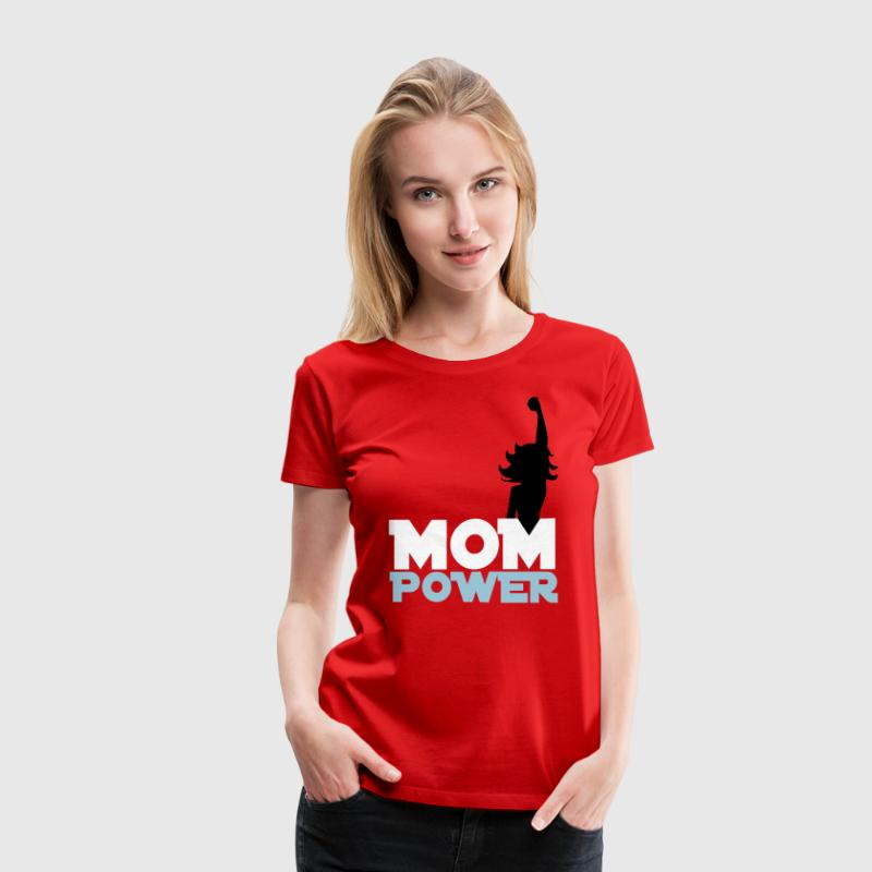 Red Mom Power 2 Plus Size - Women's Premium T-Shirt
