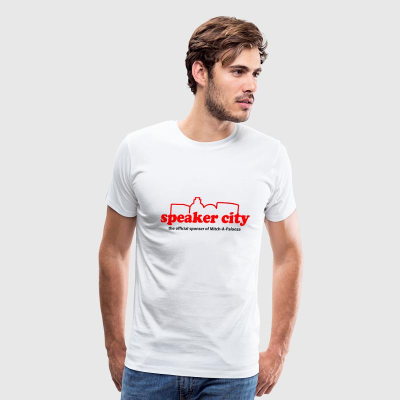 Natural Old School Speaker City T-Shirts - Men's Premium T-Shirt