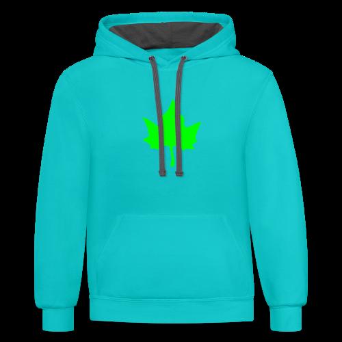 Elm leaf t-shirt - Contrast Hoodie