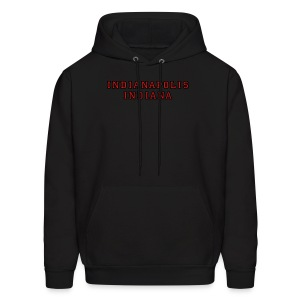 Indianapolis Indiana college-stile t-shirt red/gold - Men's Hoodie