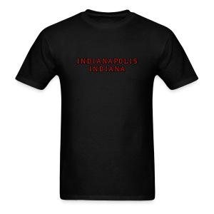 Indianapolis Indiana college-stile t-shirt red/gold - Men's T-Shirt