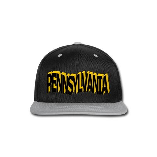 Pennsylvania Black and New Gold T-Shirt - Snap-back Baseball Cap
