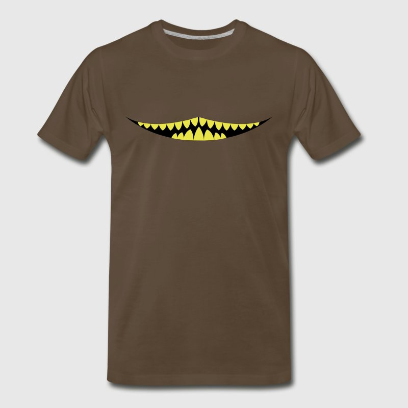 Brown evil mouth cat from alice in wonderland T-Shirts - Men's Premium T-Shirt