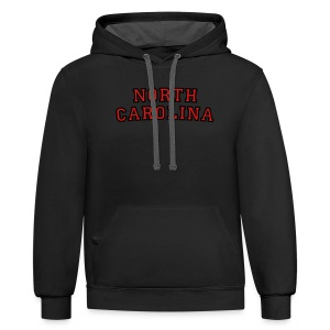 North Carolina T-Shirt College Style - Contrast Hoodie