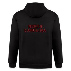 North Carolina T-Shirt College Style - Men's Zip Hoodie