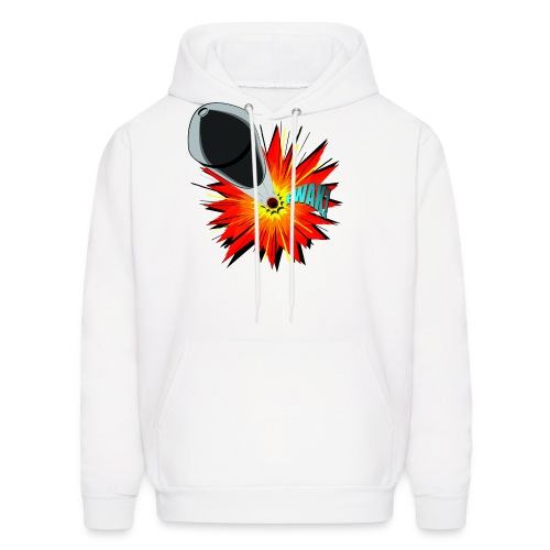 Gunshot, 3D comicbook, bullet hole, chest t-shirt - Men's Hoodie
