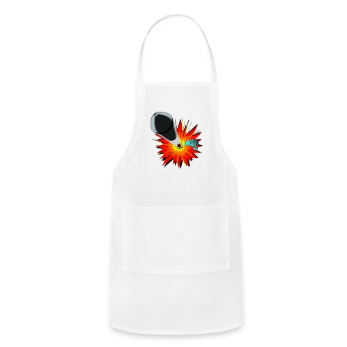 Gunshot, 3D comicbook, bullet hole, chest t-shirt - Adjustable Apron