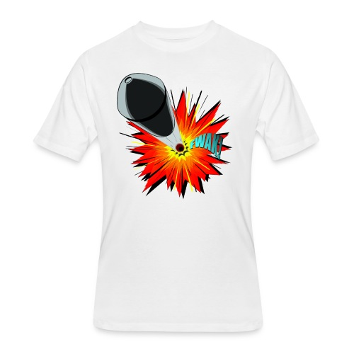 Gunshot, 3D comicbook, bullet hole, chest t-shirt - Men's 50/50 T-Shirt