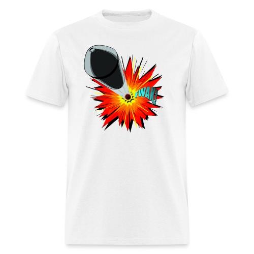 Gunshot, 3D comicbook, bullet hole, chest t-shirt - Men's T-Shirt