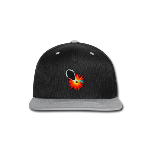 Gunshot, 3D comicbook, bullet hole, chest t-shirt - Snap-back Baseball Cap