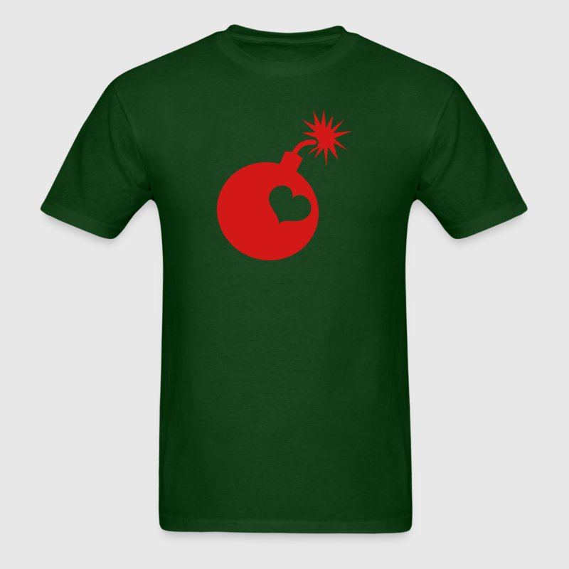 Forest green love bomb sex bomb T-Shirts - Men's T-Shirt