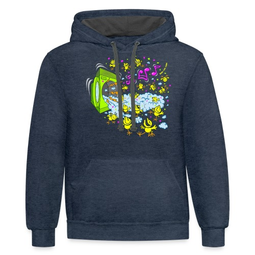 Chick Foam party - Contrast Hoodie