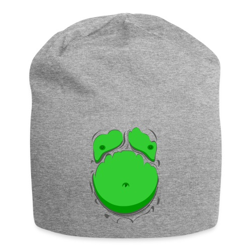 Comic Fat Belly Green, beer gut, beer belly, chest t-shirt - Jersey Beanie